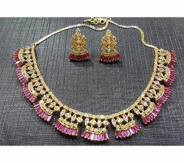 Indian Diamond Cut Necklace Set