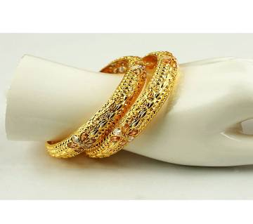 Goldpladet bangles (2 pcs)