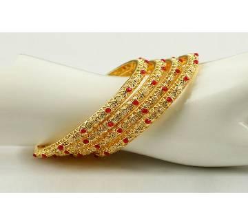Goldplated bangles (4 pcs)