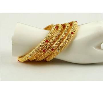 Goldpladet bangles (4 pcs)