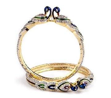 Diamond cut bangles