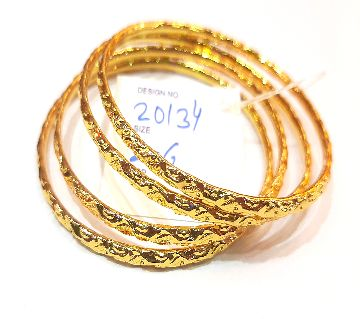 Gold Plated Bangle Set (4 Pieces)