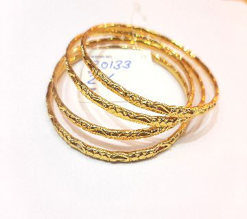 Gold Plated Bangle Set (2) (4 Pieces)