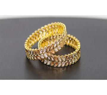 Indian Diamond cut Bangles 2pcs set