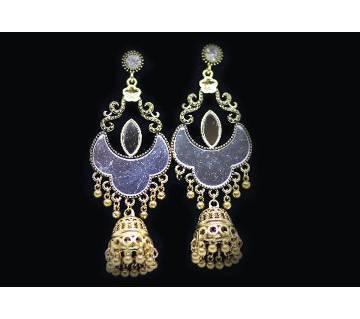 Antique Gold Mirror Party  Drop Earrings Set