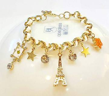 Eiffel Tower designed rhinestone setting bracelet