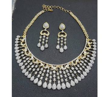 Diamond cut Gold Plated Necklace Set