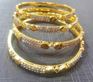 Gold Plated Bangles Set (4 pcs)