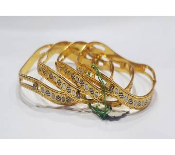 Goldplated bangles (2 pc)