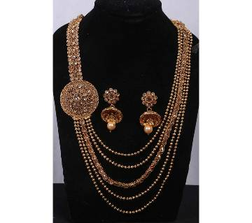 Stone Setting Gold Plated Sitahar Set