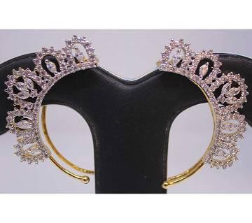 Stylish Gold Plated Diamond Cut Earring