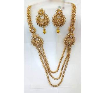Gold Plated Multi Layer Necklace Set