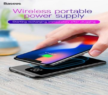 Baseus 8000mah Wireless Power Bank-8000m Ah - Black - DNM