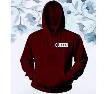 Mens Cotton Hoodie - Maroon - Queen - FAS