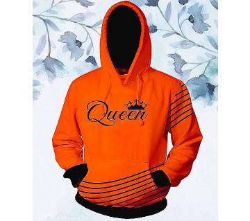 Womens Stylish Hoodie - Orange - Queen - FAS