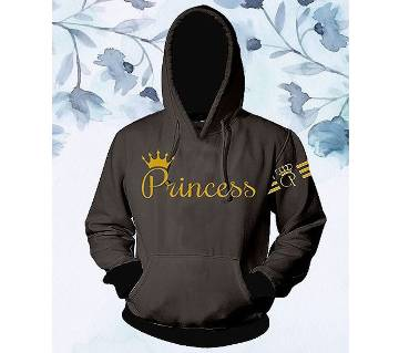 Womens Stylish Hoodie - Grey - Princess - FAS