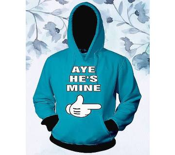 Womens Stylish Hoodie - Paste - Aye Hes Mine - FAS