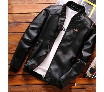 Artificial Leather Mens Winter Jacket - 25 - FAS