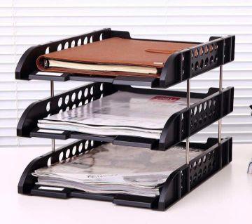 Deli three layers of plastic file disk file column three three file disk file holder document holder specials