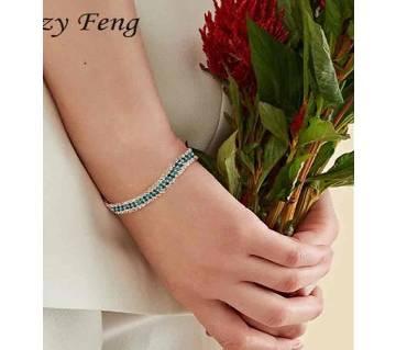 Fashion Brand Designer Charming Bride Wedding Crystal Bracelet