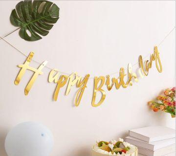 Glitter Paper হ্যাপি বার্থডে ব্যানার Baby Boy Girl Party Decorations