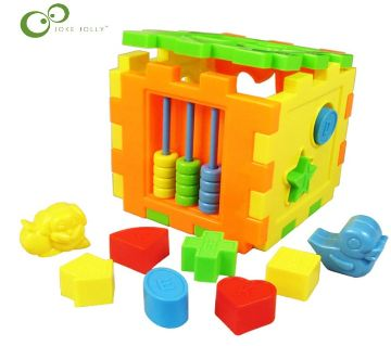 Colorful Baby Square Disassemby Building Block Matching