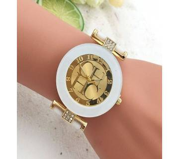 Crystal Silicone Ladies Watch