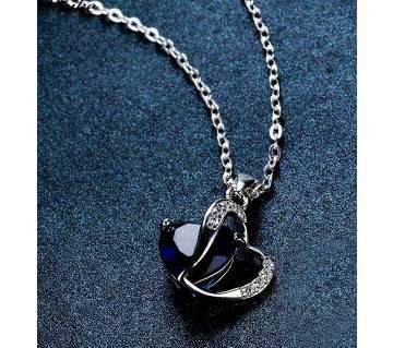 Blaike Charming Sapphire Blue Zircon Pendants Necklaces