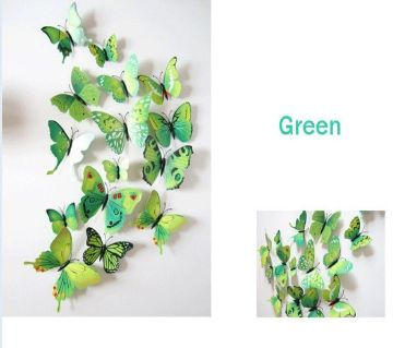 12pcs/lot 3D DIY Butterfly Wall Stickers