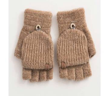 1Pair Women Gloves Knitted Fingerless