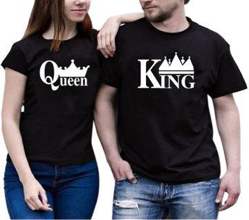 King Queen Mens Half Sleeve Cotton T-Shirt