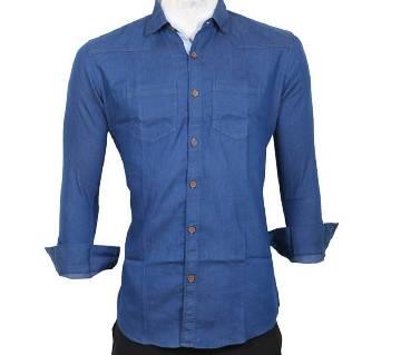 Sky Blue Denim Gents Full Sleeve Casual Shirt