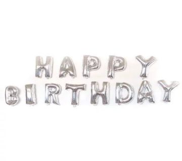 Birthday foil balloon-Silver