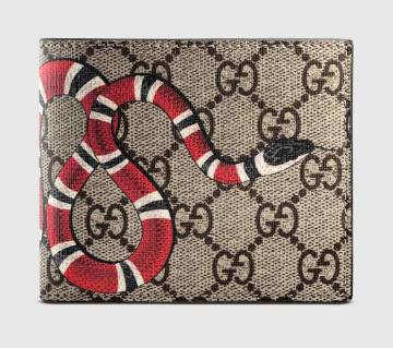 Snake Printed Menz Regular Shaped Wallet