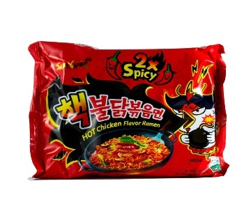 Chicken Roasted Noodles Extra 2X Spicy Flavor 1 packet 140gm korea