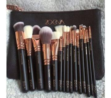 zoeva Makeup Brush Set  Black and Golden
