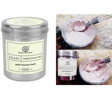 Khadi Gold Thermo Herb Face pack তারুন্যময় ও গ্লোইং স্কিনের জন্য - INDIA