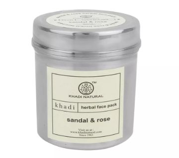 Khadi Sandal & Rose face pack গোলাপী গ্লোইং ত্বকের জন্য - INDIA