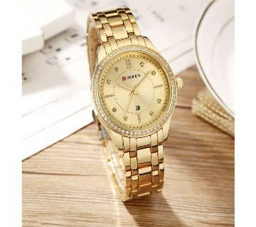Curren 9010 watch women casual fashion quartz watches crystal gift design