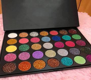 Morphe 35 Colors Eyeshadow Palette Matte Diamond Glitter