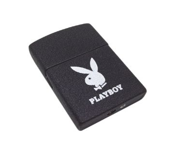 Playboy Metal Gas Lighter - Black