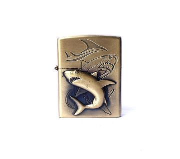 Metal Shark Lighter - Golden