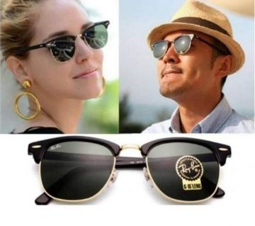 Black Alloy Unisex Sunglasses