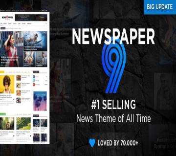 Newspaper  WordPress theme Version-9.5