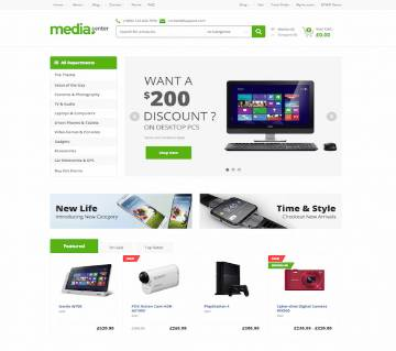 MediaCenter WordPress Theme for electronics store