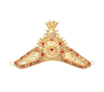Gold Plated mukut For Women