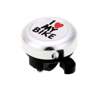 """""""I love my bike"""" bicycle bell"""