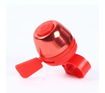 Bicycle alloy bell - red