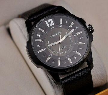 Curren Black Mens Casual Wrist Watch
