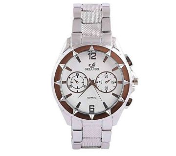Silver Stainless Steel Analog Watch for Men